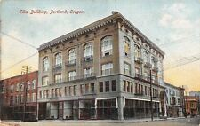 Portland Oregon~Am Going to School in Elks Building~Storefronts~1909 Postcard