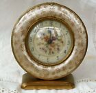 Vintage Petit Point Clock For Spares Repair ( Winds Ticks But Keeps Stoping )