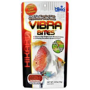Hikari Vibra Bites 73g - Bloodworm Shaped Colour Enhancing Tropical Fish Food