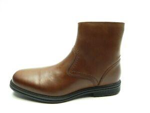 ROCKPORT TAYLOR ZIP HYDRO SHIELD WATERPROOF LEATHER C12624 BROWN MEN BOOTS