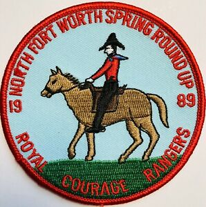 Royal Rangers Patch 1989 North Fort Worth Spring Round Up Courage Horse