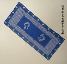 STICKEREI Tischdecke LANDHAUSSTIL Tischläufer BAYRISCH Tischdeckchen BLAU 30x70