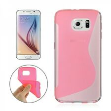 Case Cover Cap Accessories Pink For Samsung Galaxy S6 G920 G920F Silicone