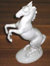 Gräfenthal Porzellan steigendes Pferd/Gaul/Hengst ohne Reiter *Figur* weiß 25 cm