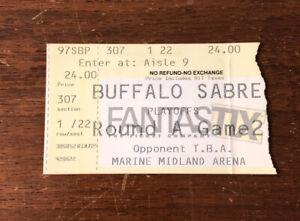 1997 NHL Playoffs Buffalo Sabres Playoff Ticket Stub vs Ottawa Senators