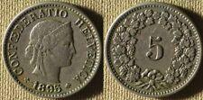 Switzerland : 1895 5 Rappen XF  #26  IR7511