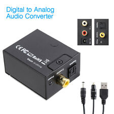 3.5mm Digital to Analog Audio Converter Adapter W/ Fiber Cable RCA Out optical
