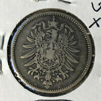 1883-A Germany 1 Mark Silver Coin VF/XF Condition