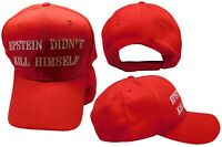 Epstein Didn't Kill Himself Red 100% Cotton Embroidered Baseball Hat Cap