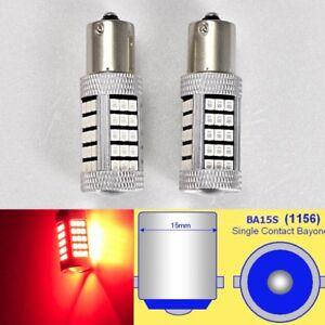 1156 P21W 3497 7506 63 LED Projector Red Bulb Rear Signal B1 AW U