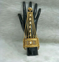 Babosa Sakhi Indian Bridal Bracelet with Ring Hath Phool Panja Hand Cuff Jewelry