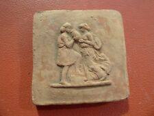 Clay Brick Roman Wall Plaque Hanging Figure Roman 3D Romantic Boy & Girl