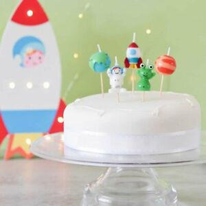PREMIUM 3D Space Theme Planets Party Cake Candles