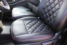 Sitzbezüge Kunstleder Rote Naht passend für Mercedes Sprinter W906 V Klasse Vito