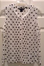 French Connection White/Black Sleevless Top/Blouse, NWT , Sz8