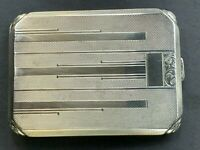 Antique Art Deco  French Silver 800 Cigarette Case Hallmarked 135 Grams 1920's