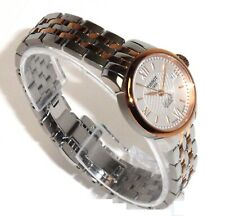 TISSOT $715 WOMEN'S TWO-TONE AUTOMATIC SWISS WATCH w/DATE LE LOCLE T41.2.183.33