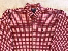 Duck Head Men's Shirt Red Checkered Long Sleeve Button Down Casual Size XL