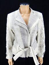ROBERTO CAVALLI Designer Jacket Women's 42 IT 6 US Watersnake Baeded Coat Italy