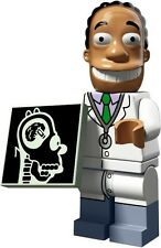 The Simpsons 2 Lego collectible minifig Doctor Julius Hibbert + homer brain xray