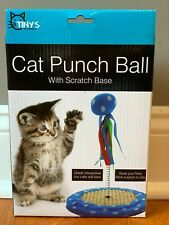 Cat Punch NEW Ball Interactive Toy with Scratching Base - FREE SHIPPING