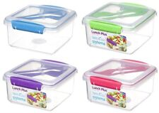 Sistema To Go Lunch Plus Cutlery Sandwich Food Snacks Salad Box Container 1.2L