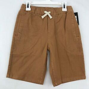 Art Class Boys Size Medium Denim Shorts Pull On Elastic Waist Drawstring Tan