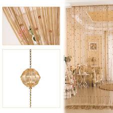 1/2/4pc Crystal Beaded Door String Curtain Room Window Divider Wall Panel Tassel