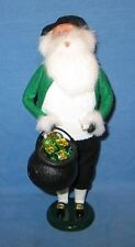 BYERS CHOICE Irish Santa Claus w/ Kettle & Pipe Signed Byers