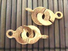 2x Ring-Verschluß 10mm, Knebelverschluß, vergoldet