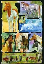 # GLANZBILDER # MLP 1977 traumhafter Pferde - Bogen,  wunderschön !!