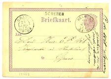 NEDERLAND 1876  BRIEFKAART  - LANGST = SOMEREN  =ZEER  FRAAI