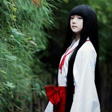 Inuyasha Kikyo Straight 100CM Long Black Cosplay Anime Full Party Hair Wig