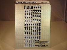 DECALS 1/18 NUMEROS NOIRS ET BLANCS PART 2 - COLORADO  18011