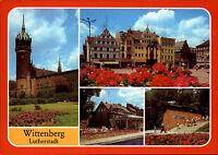 WITTENBERG Lutherstadt DDR Mehrbild-AK ua Eis-Café, Denkmal Befreiung Faschismus