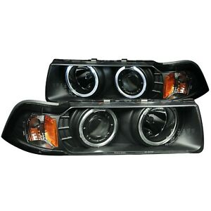 ANZO PROJECTOR HEADLIGHTS BLACK G2 1 PC (SMD LED) FOR 92-98 BMW 3 SERIES E36 2DR