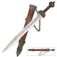 Roman Gladius Replica Steel Short Sword Etched Blade Fine Craftsmanship gladiato