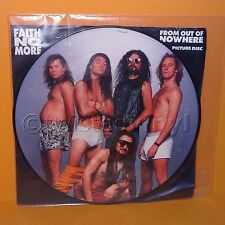"""1990 SLASH RECORDS FAITH NO MORE - FROM OUT OF NOWHERE 12"""" PICTURE DISC VINYL"""