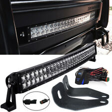 "for 06-10 Hummer H3 30""Curved Bumper LED Light Bar w/ Front Hidden Mount Bracket"