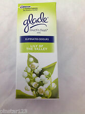 2 X 10ml Glade Touch N Fresh Refill Lily of The Valley