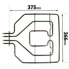 For Bosch Neff Siemens Oven Cooker Grill Heater Element 2800W 375 x 368mm
