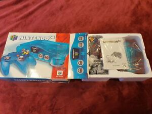 Nintendo 64 System Ice Blue Console