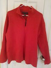 vintage  Banana Republic men's Orange wool cotton sweater made in Hong Kong sz L