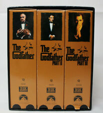 The Godfather Collection Part I II III 1 2 3 (VHS, 1997, 6-Tape Box Set)