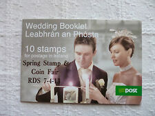 2013 Irlanda RDS PRIMAVERA timbro e COIN FAIR Souvenir Matrimonio LIBRETTO TASSO 'N'
