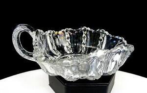 "EAPG DUNCAN MILLER #48 DIMAOND RIDGE PATTERN GLASS CLEAR 6 1/8"" NAPPY 1901"
