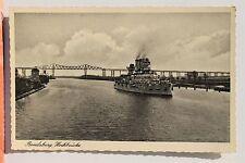 29042 Ak Rendsburg Hochbrücke mit Schiff Kreuzer