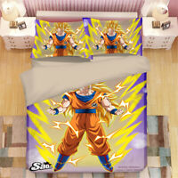 Dragon Ball Design Bedding Set 3PC Of Duvet Cover Pillowcase Single Double King