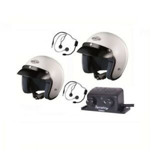 SPARCO Helmet CLUB J1 x 2, Intercom Set Terratrip Clubman, Communication KIT