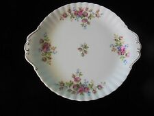 ROYAL ALBERT MOSS ROSE CAKE PLATE_used_ships from AUS!_xx40_B2b32